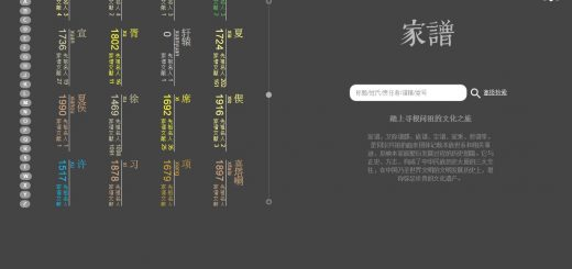 [The Genealogy Knowledge Service Platform, Shanghai Library.]