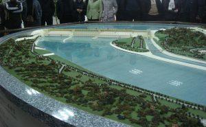 Maquette du barrage des Trois Gorges, site du barrage des Trois Gorges (Yichang, Hubei), K. Le Mentec (01/2008)