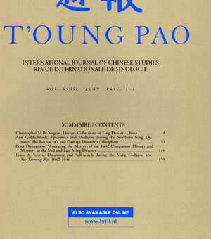 T'oung Pao, vol. 106 (2020)