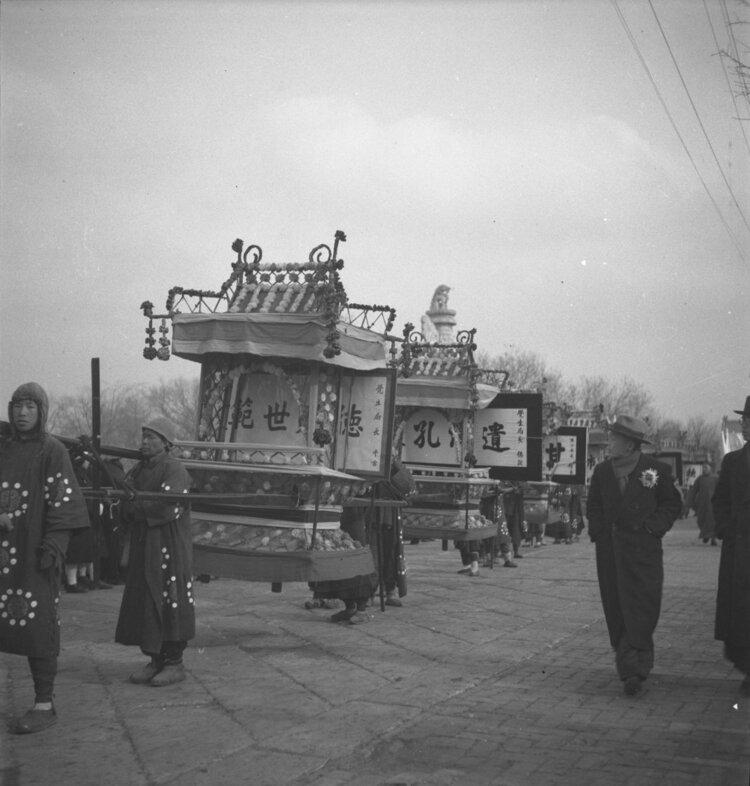 Enterrement, Chef du chemin de fer, Peking, Beijing, Moukden